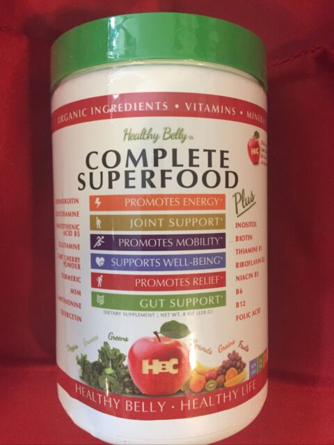 Healthy Belly Complete Superfood Powder: Boosts Mood  Energy, Joint  Gut Support