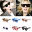 Fashion-Vintage-Women-Kaleidoscope-Oversize-Square-Cat-Eye-Gradient-Sunglasses miniatura 9
