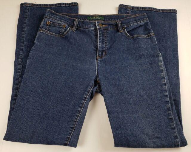 Ralph Lauren Womens Jeans Sz 8 Classic Boot Cut Mid Rise Medium Wash Denim **