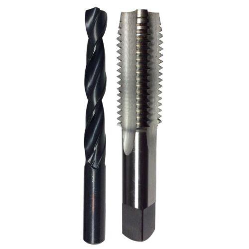 USA 1//2-20 HSS Threading Plug Tap and matching 29//64 Drill Bit Set