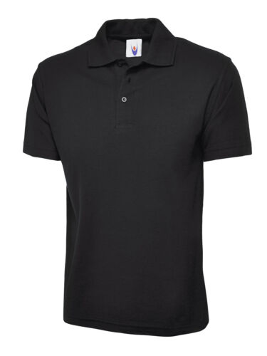 Polo Top Black X-Large Work Clothing Unisex Womens Mens Polo Shirt Workwear Polo