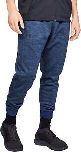 Under Armour Fleece Mens Joggers Blue Sweatpant Gym Sport Workout Training Pants