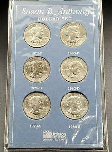 Coins 1979  P+D+S Susan B Anthony Mint Set ~ SBA BU Dollar ~ U.S