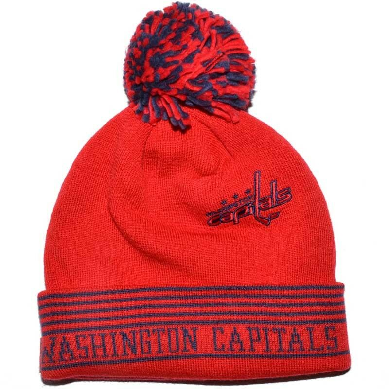 WASHINGTON NHL CAPITALS NHL WASHINGTON REEBOK Pom Pom Beanie 4de7f3