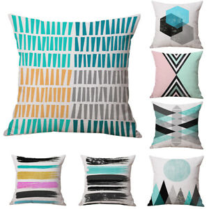 FJ-COLORFUL-ABSTRACT-LINEN-CUSHION-COVER-PILLOW-CASE-MODERN-HOME-DECOR-GIFT-SUP