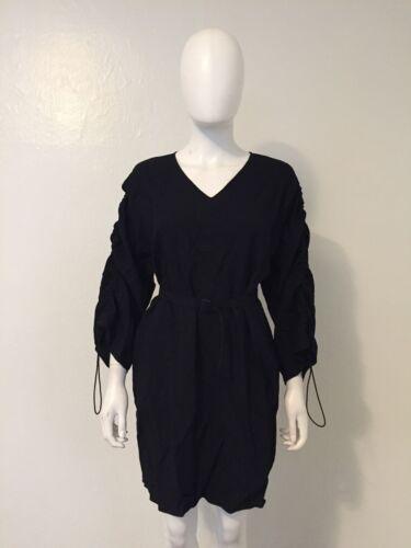 MAISON MARGIELA black drawstring toggle dress tuni