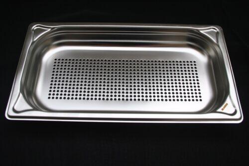BLANCO GN Behälter 1//3 perforiert Edelstahl Gastronorm gelocht tiefe 40 mm