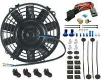 7 Inch Electric Fan Radiator Cooling 3/8 Thermostat Switch Atv Mower Go-kart