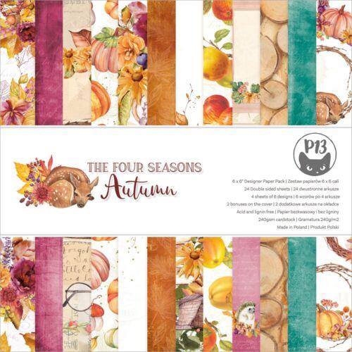 "P13 Double-Sided Paper Pad 6/""X6/"" 24//Pkg-The Four Seasons-Autumn"