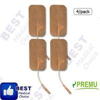 8 Total Reusable Pads 2 X 3.5 For Tens 3000 , Tan Cloth, Self Adhesive