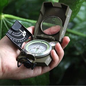 Professioneller-Marschkompass-Militaer-Kompass-Trekkingkompass-Metallgehaeuse-Neu