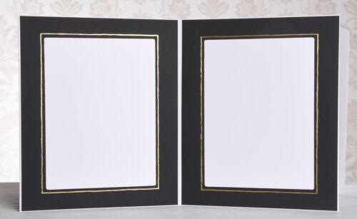 Portraitmappe / Leporello für 50 Fotos 15x20 - schwarz mit Goldkante - 315G