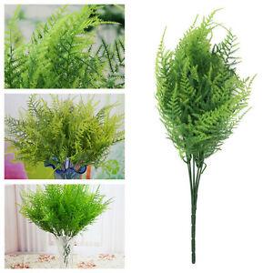 7-Zweige-Kuenstlicher-Spargel-Farn-Gras-Pflanze-Blume-Zuhause-Floral-Zubehoer