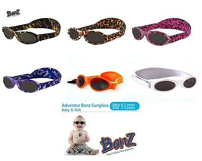 Baby Kidz Banz ® Avventurieri Occhiali Da Sole 100% Uva Uvb Sun Protezione Per Ragazzi Girl-mostra Il Titolo Originale