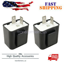 2 X Adjustable Led Flasher Relay Turn Signal Blinker Light For Motorcycle 2pin