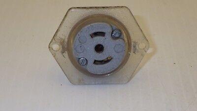 LOCK FLANGED RECEPTACLE 15A 250V NNB GENERAL ELECTRIC NEMA L6-15R TWIST