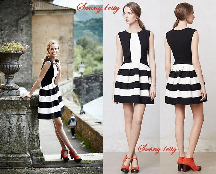 NEW Anthropologie Strata Dress By Eva Franco sz 12P Simply Flattering & Cute