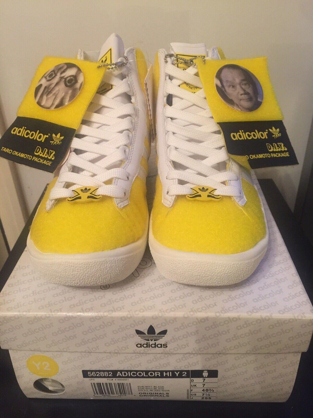 deshonesto Cubeta entregar  adidas Originals Adicolor Hi Y 2 Taro Okamoto Yellow UK 8 568225 for sale |  eBay