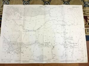 Antique-Map-Berkshire-Hampshire-Eversley-Cross-Blackwater-River-1932