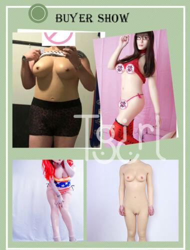 Silicone Breast Plate Fullbody Suit Transgender G Cup Forms Crossdresser Pantalon
