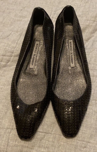 manolo blahnik Black Sequence Shoes