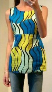EUC MARNI Italy women's multicolor curve line print vintage pleated dress sz40