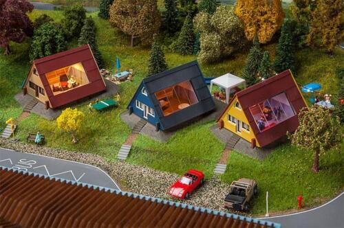 3 pezzi #70958 Faller 130606 h0 case vacanza-Set