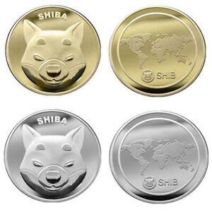 1+1pcs SHIBA INU COIN CRYPTO Shib Dogecoin Killer Gold Coin and SHIB Silver Coin