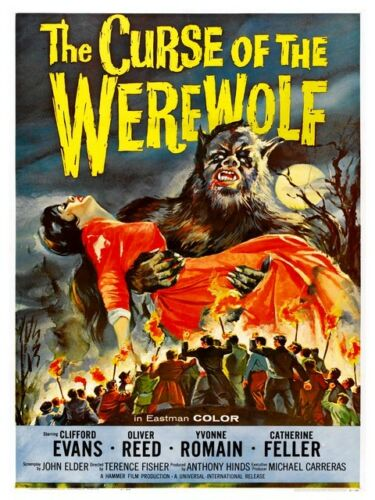 Old film Poster reproduction Curse of thr Werewolf