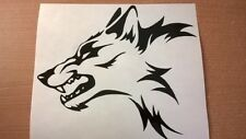 wolf head tribal vinyl graphic decal car sticker motorbike boat vw ford peugeot