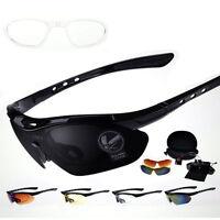 Sports Cycling Bike Bicycle Sunglasses UV400 5 Lens Goggles Glasses