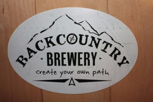 BACKCOUNTRY BREWERY Oval Logo decal craft beer brewery brewing