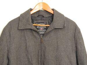 Steve   Barry s The Woolly Mammoth Jacket Men Sz L Large Gray Wool ... 16f847002e20