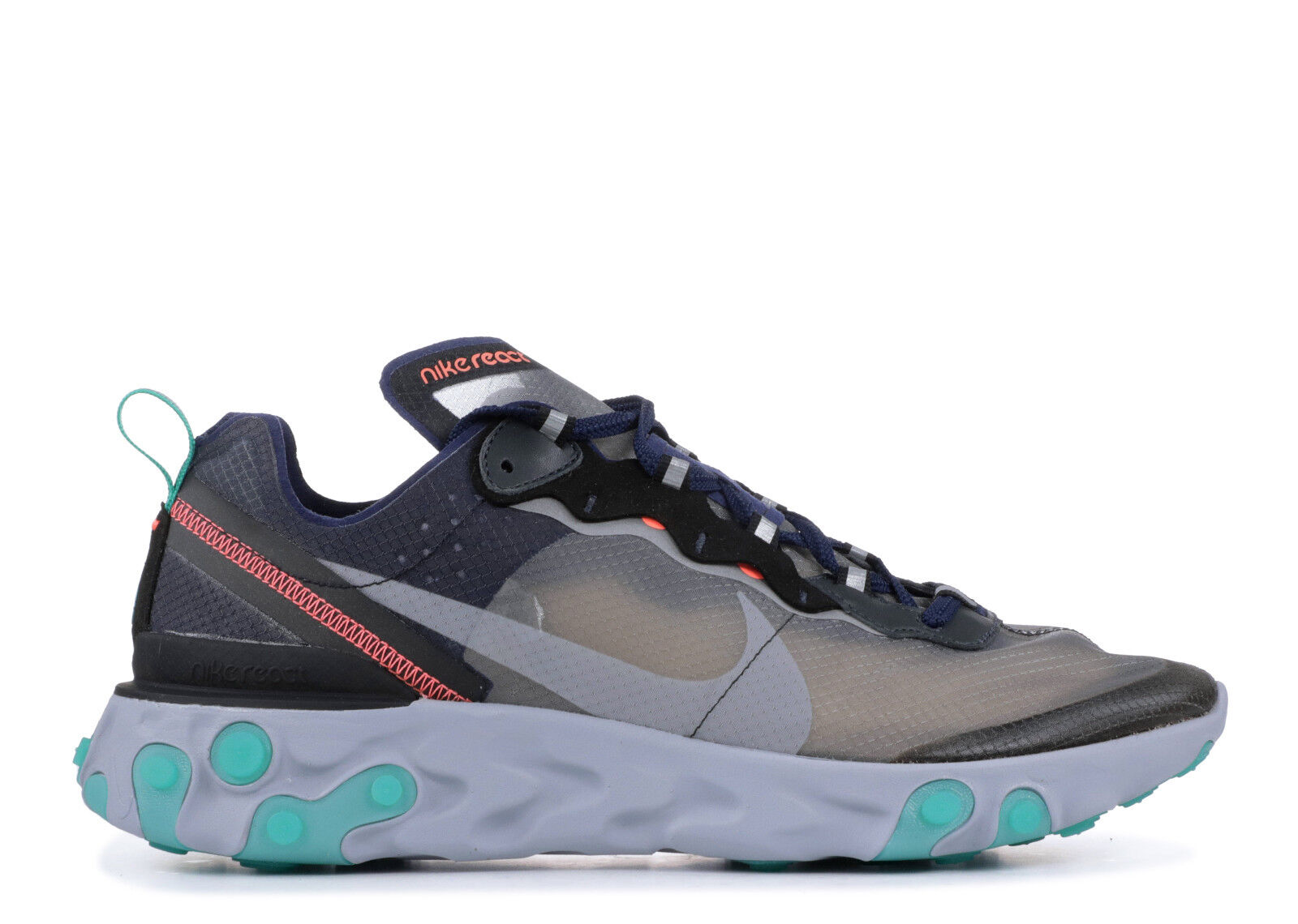 Nike React Element 87 Black Neptune Neptune Neptune Green Size 15. AQ1090-005 vapormax air da7085