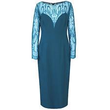 ZUHAIR MURAD $5,070 sheer lace long sleeve deep v-neck dress 12-US/48-IT NEW