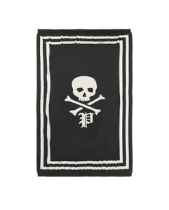 NEW RALPH LAUREN POLO SKULL CROSSBONES THROW BLANKET 50' X 70' RUGBY DECORATIVE