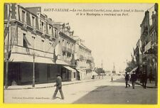 cpa Rare 44 - SAINT NAZAIRE en 1904 Rue AMIRAL COURBET Navire Port Le MUSTAPHA
