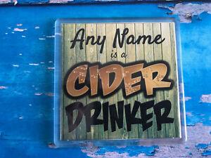 Cider-Drinker-Personalised-Coaster-Drink-Coaster-Add-Name-Beer-Mat