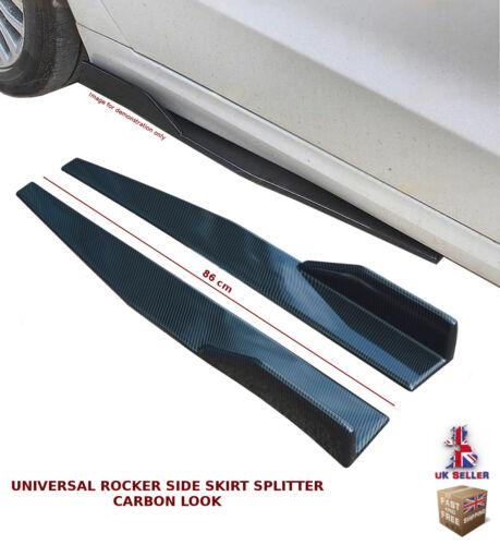 UNIVERSAL SIDE SKIRT EXTENSION BLADES ROCKER SPLITTER 86CM CARBON FIBRE-FRD2