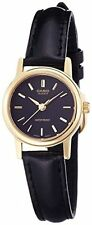 Casio LTP1095Q-1A Ladies Casual Analog Watch Genuine Leather Band Gold Case