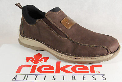 Rieker Slippers Sneakers Low Shoes Braun Soft Leather Insole New | eBay