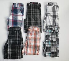 DICKIES HURLEY QUIKSILVER BOYS LOT OF 6 PLAID SHORTS CLOTHES (B6)  SZ 5