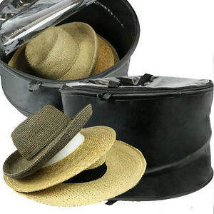 Premium Hat Storage Travel Bag Dust Cover Closet Organizer Round Box Pop-up