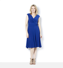 Ronni Nicole Sleeveless Crepe Mock Wrap Dress UK Size 20 TD075 PP 17