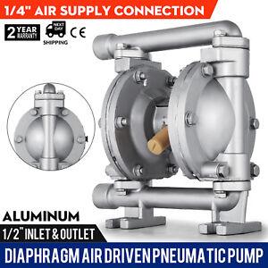 Air Driven Pneumatic Diaphragm Pump Aluminium Diesel Oils Petrol Methanol 45LPM
