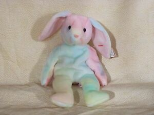 3a619c58ccd Image is loading TY-Beanie-Baby-Hippie-Rabbit-Tie-dye-May-
