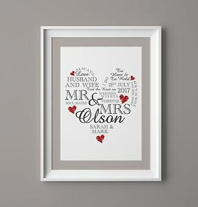 Image Is Loading Wedding Day Print Personalised Word Art Gift Marriage