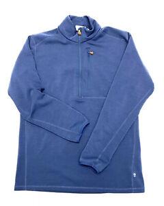FJALLRAVEN-Pullover-Sweater-Jacket-Mens-Size-XL-Blue-1-2-Zip