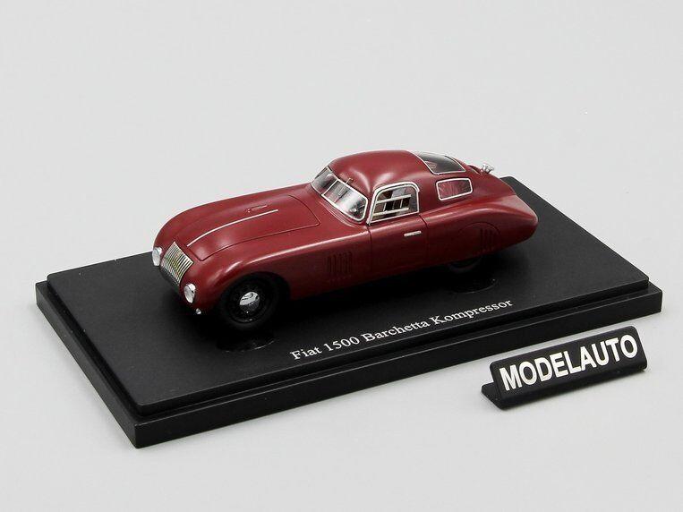 Autocult 1 43 Fiat 1500 Barchetta Compressore, rosso, Italia, 1943 L.E.333 pcs.