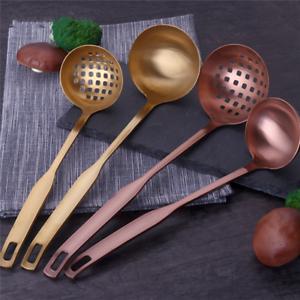 Stainless Steel Large Soup Spoon Ladle Skimmer Colander Filter Kitchen Tool Z